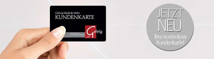 Holen Sie sich Ihre kostenlose Kundenkarte und sichern Sie sich eine Menge Vorteile!